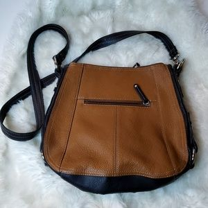 Tignanello Shoulder Bag Brown and Black w Straps